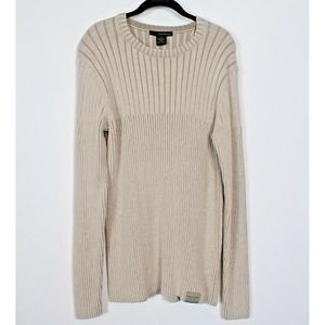 Calvin Klein Jeans Sweater cream Ribbed Med